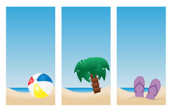 Bandeiras da praia do feriado Fotografia de Stock