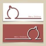 Bandeiras da quinquilharia do Natal Imagens de Stock Royalty Free