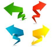 Bandeiras da seta de Origami Fotos de Stock Royalty Free