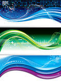 Bandeiras da tecnologia Fotografia de Stock