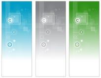 Bandeiras da tecnologia ilustração stock