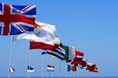 Bandeiras da UE Fotos de Stock Royalty Free