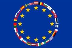 Bandeiras da UE dos países Imagens de Stock Royalty Free