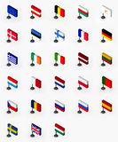 Bandeiras da União Europeia ilustração stock