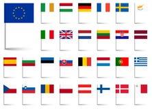 Bandeiras da União Europeia Fotos de Stock Royalty Free