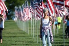 Bandeiras da valentia fora de Saint Louis Art Museum Imagem de Stock Royalty Free