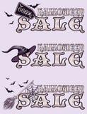 Bandeiras da venda de Dia das Bruxas Imagens de Stock Royalty Free
