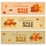 Bandeiras da venda do outono Imagens de Stock