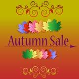 Bandeiras da venda do outono Fotografia de Stock Royalty Free