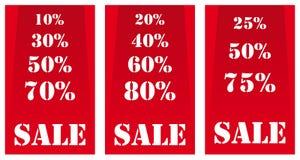 Bandeiras da venda vermelhas Imagens de Stock Royalty Free