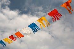Bandeiras da vibração da cor imagens de stock