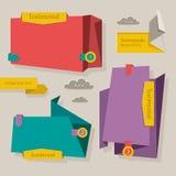 Bandeiras da Web. Blocos das homenagens. ilustração do vetor