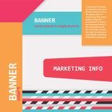 Bandeiras da Web da cor ilustração stock