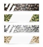 Bandeiras da Web da camuflagem Imagem de Stock