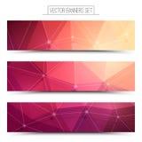 bandeiras da Web da tecnologia do vetor 3d Imagens de Stock Royalty Free