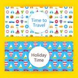 Bandeiras da Web das férias de verão Foto de Stock
