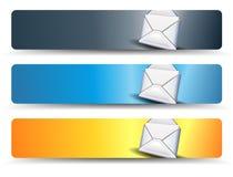 Bandeiras da Web do email Fotografia de Stock