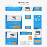 Bandeiras da Web do tamanho padrão do negócio do vetor ajustadas Imagem de Stock