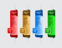 Bandeiras das etapas para o Web site Imagem de Stock