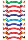 Bandeiras das fitas Fotografia de Stock