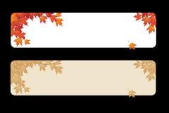 Bandeiras das folhas de outono Ilustração do Vetor