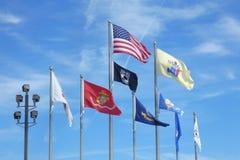 Bandeiras das forças armadas dos E.U. Imagem de Stock Royalty Free