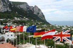 Bandeiras das nações fotografia de stock