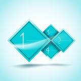 Bandeiras das opções do Aqua Fotografia de Stock