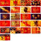 Bandeiras das regiões francesas Foto de Stock