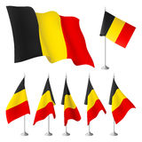 Bandeiras de Bélgica Fotografia de Stock Royalty Free