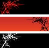 Bandeiras de bambu Imagens de Stock Royalty Free