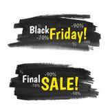 Bandeiras de Black Friday Imagens de Stock Royalty Free