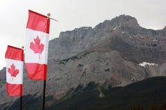 Bandeiras de Canadá Fotos de Stock Royalty Free
