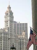 Bandeiras de Chicago Fotografia de Stock