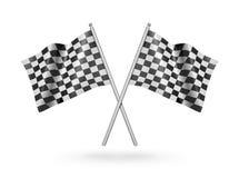 Bandeiras de competência Checkered ilustração 3D Imagem de Stock