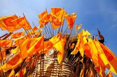 Bandeiras de Dhammajak, budismo Foto de Stock Royalty Free