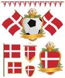 Bandeiras de Dinamarca ilustração do vetor