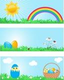 Bandeiras de Easter. ilustração royalty free