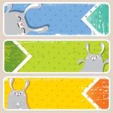 Bandeiras de Easter ilustração do vetor