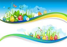 Bandeiras de Easter ilustração royalty free