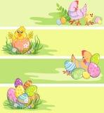 Bandeiras de Easter Ilustração Stock