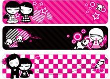 Bandeiras de Emo ilustração stock