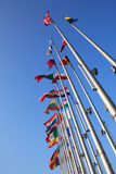 Bandeiras de estados europeus foto de stock
