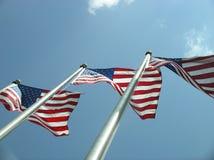 Bandeiras de Estados Unidos Fotografia de Stock