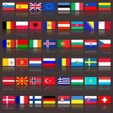 Bandeiras de Europa Foto de Stock