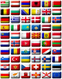 Bandeiras de Europa Fotografia de Stock Royalty Free