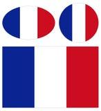 Bandeiras de França Imagens de Stock