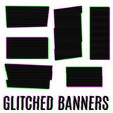 Bandeiras de Glitched Foto de Stock