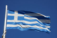Bandeiras de Greece Imagem de Stock