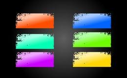 Bandeiras de Grunge Fotografia de Stock